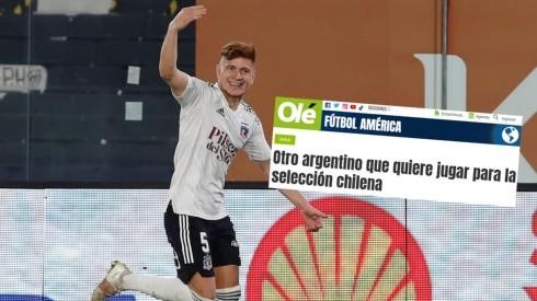Olé reacciona al presente del argentino-chileno Leonardo Gil.