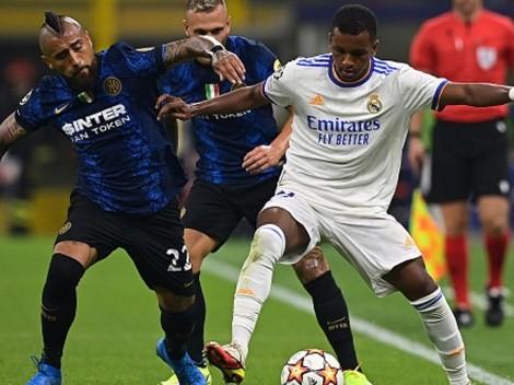 Gotitas de Vidal en derrota de Inter ante el Madrid