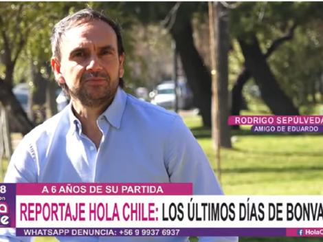 Rodrigo Sepúlveda revela su reacción al enterarse de la muerte de Bonvallet