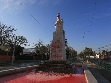Atacan monumento al Presidente Allende