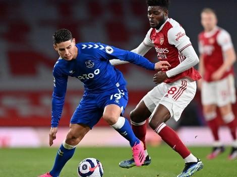 James Rodríguez se marcha de Everton con rumbo a Qatar