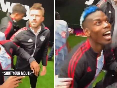 Cara perturbadora: la extraña reacción de Pogba contra hinchas rivales