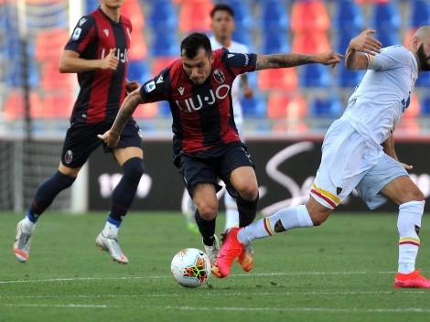 Bologna deja escapar la victoria con Gary Medel a pleno