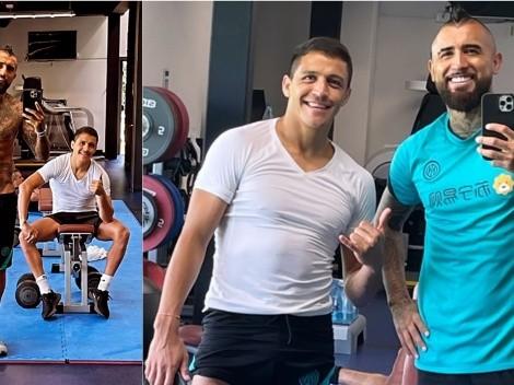 Alexis y Vidal juntos a dos semanas de las eliminatorias