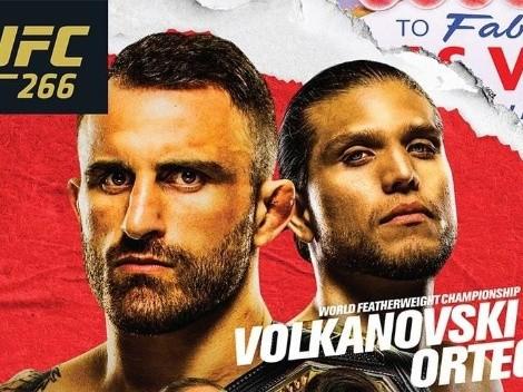 ¿Cuándo comienza y dónde ver UFC 266: Volkanovsky vs Ortega?