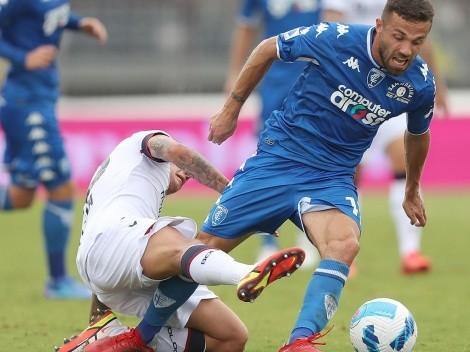 Medel sufre dura derrota con Bologna de titular ante Empoli