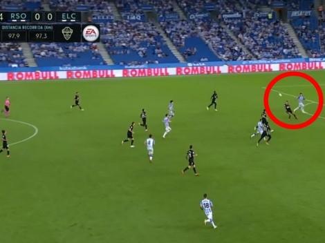 Se le pasó: Roco comete error y propicia gol de la Real Sociedad