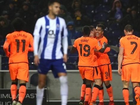 El trío sigue vigente: Mané, Salah y Firmino golean al Porto