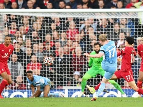 Liverpool y Manchester City se matan a goles en un partidazo