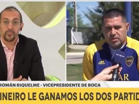 """Román enrabiado con ex jugador en TV: """"Si querés hacer de periodista"""""""
