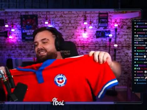 """Ibai alucina con la camiseta de Chile: """"Qué preciosidad"""""""