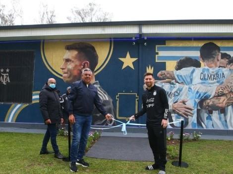 Argentina y Messi inauguraron mural por la Copa América
