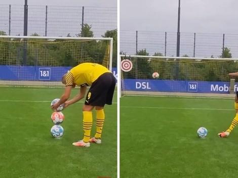 ¡Impresionante! Haaland supera desafío imposible con tres balones