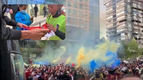 La selección de Venezuela recibió el apoyo de su afición en Santiago.