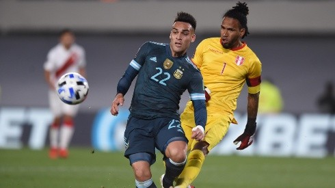 Lautaro Martínez anotó el único gol del partido para el triunfo de Argentina.