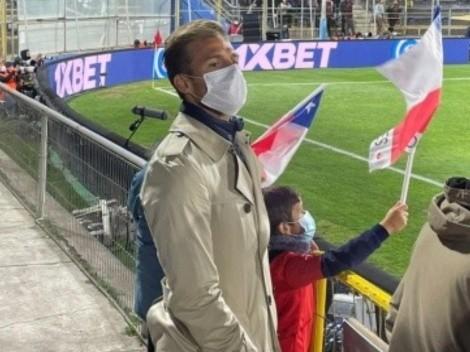 Santos llega a apoyar a Venezuela ante Chile en San Carlos