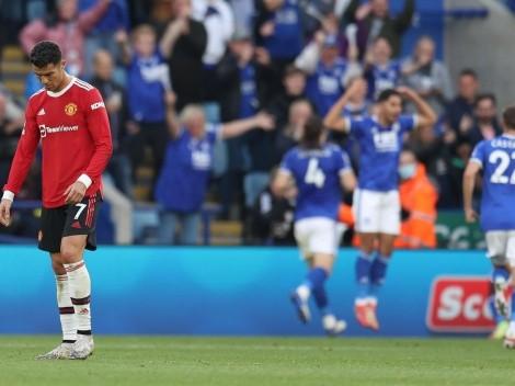 Leicester golea al Manchester United con Cristiano Ronaldo