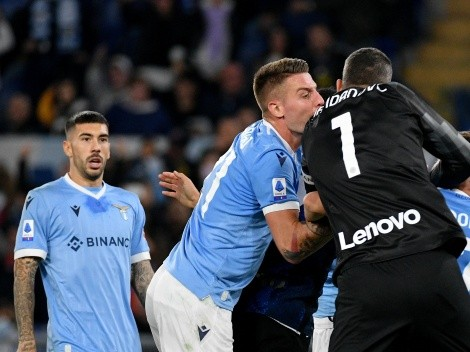 """Trifulca por gol sin """"fair play"""" de Lazio en triunfo sobre Inter"""
