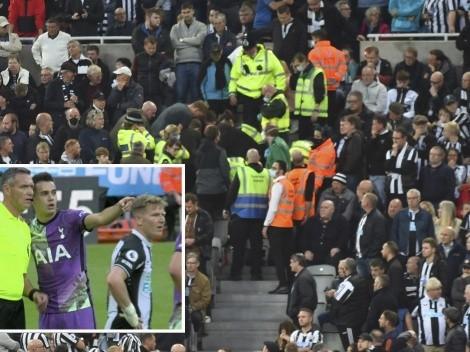 Susto: Newcastle y Tottenham se detuvieron por desmayo de un hincha