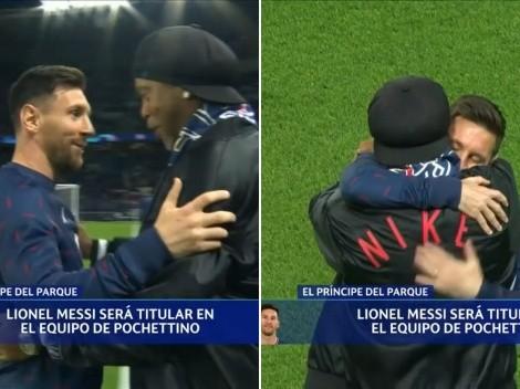 Amigos para siempre: El emotivo abrazo entre Messi y Dinho