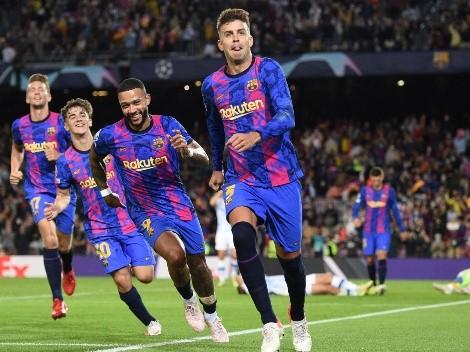 Gol de Piqué y Barcelona suma sus primeros tres puntos