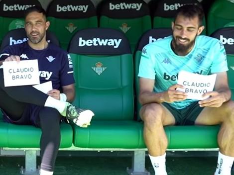 Bravo le regala la camiseta de Chile al goleador del Betis