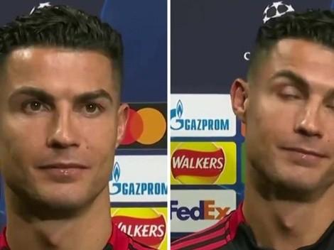 """La reacción de CR7 cuando el reportero le dice: """"Lo hiciste de nuevo"""""""