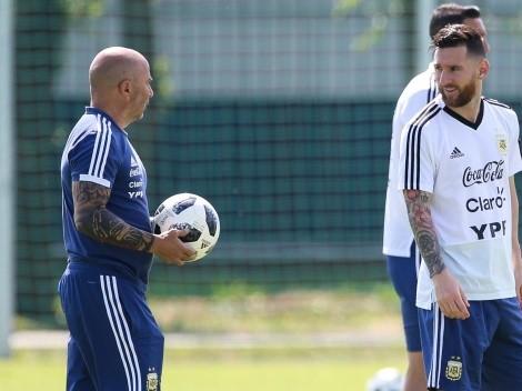 La poca onda de Sampaoli y Messi previo a su duelo
