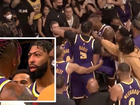 Bochorno para los Lakers: Howard y Davis se van a las manos