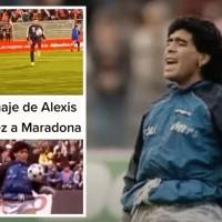 """""""Life is Life"""", Alexis homenajea a Maradona en el calentamiento"""