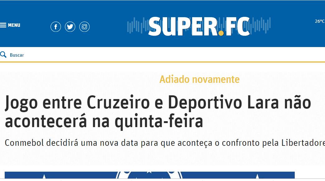 Un Cruzeiro fortalecido pero prudente recibe al Deportivo Lara