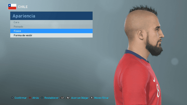 PES 2019: Arturo Vidal recibió un retoque en su peinado en