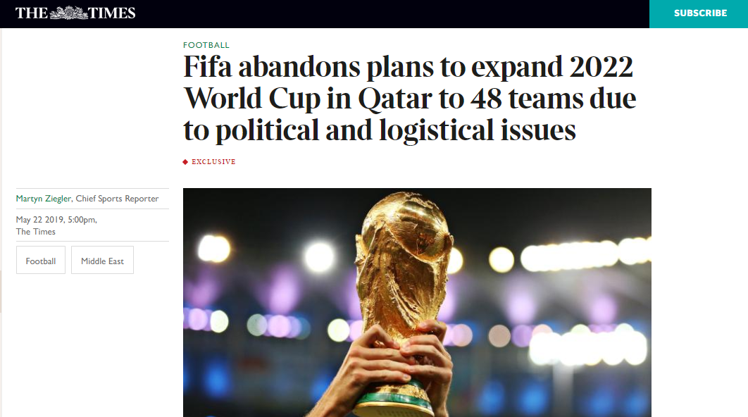 Eliminatorias Rusia 2020 Sudamerica Calendario.No Habra Mundial De 48 Selecciones En Qatar 2022 Redgol