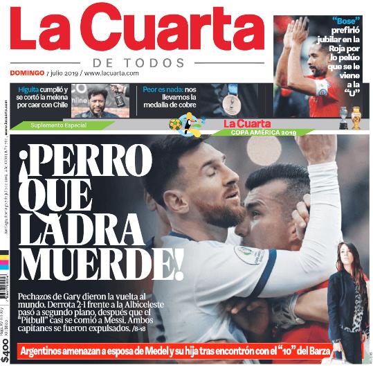 Gary Medel y Lionel Messi se toman las portadas de la prensa ...