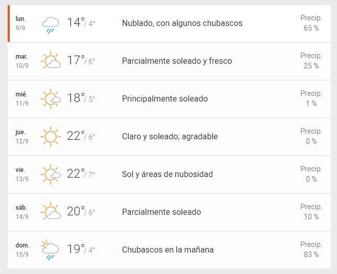 Wow Tiempo Santiago
