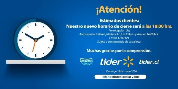 Supermercados informan nuevos de horarios de atención para esta semana