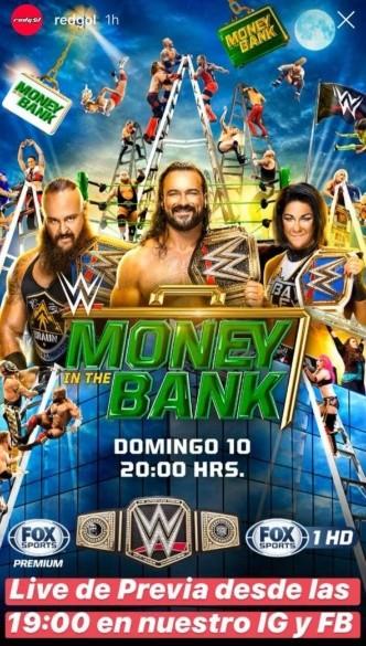 Wwe Horario Y Donde Ver En Vivo Y Online Money In The Bank El Gran Evento De La Lucha Libre Redgol