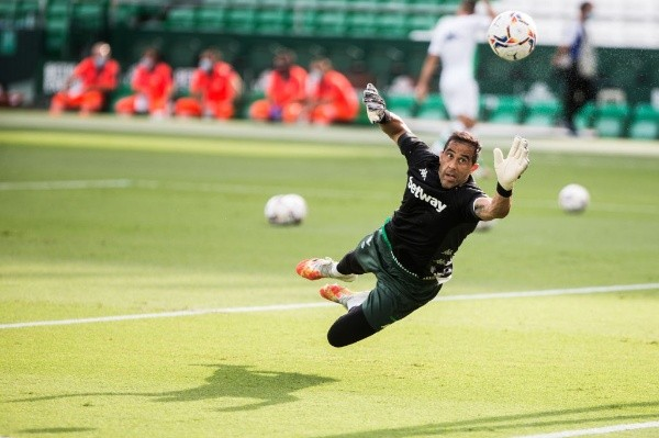 Claudio Bravo of Real Betis during the spanish league, LaLiga, football match played between Real Betis Balompie and Real Valladolid at Benito Villamarin Stadium on September 20, 2020 in Sevilla, Spain.-Not Released (NR)