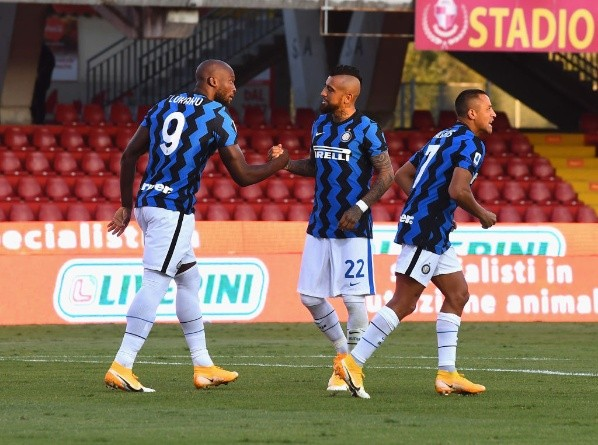 during the Serie A match between Benevento Calcio and FC Internazionale at Stadio Ciro Vigorito on September 30, 2020 in Benevento, Italy.-Not Released (NR)