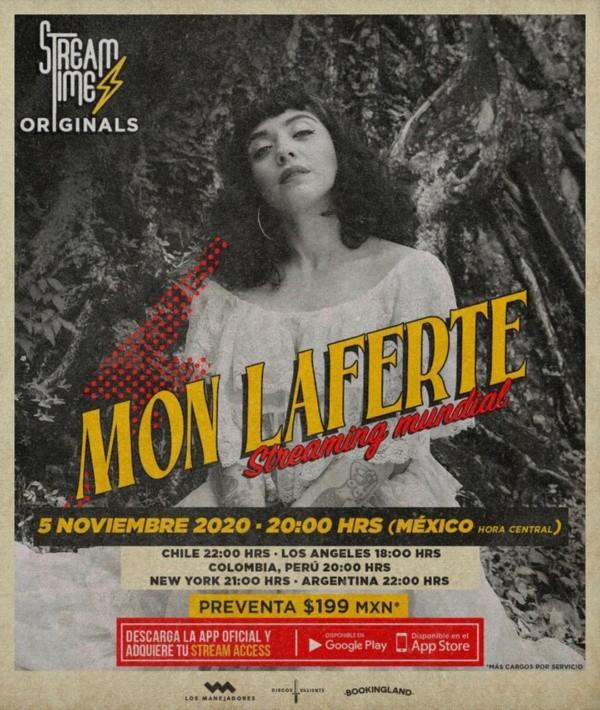 El afiche del show en streaming que prepara Mon Laferte