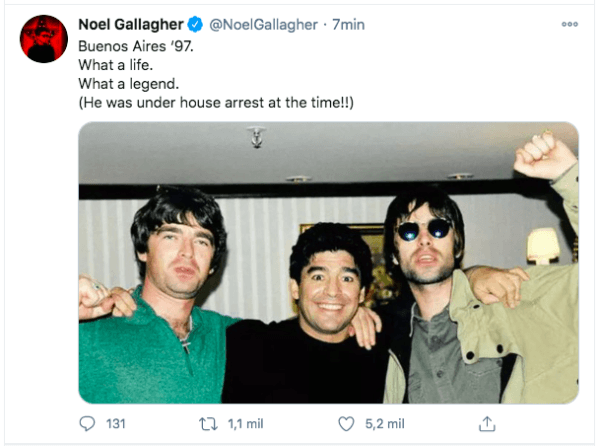 La noche que Maradona amenazó a Oasis en un bar